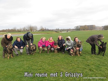 Mini reünie met 5 van de 11 Grizzly's in HI Ambacht